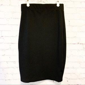 🌼2/$22🌼 Textured Black Magazine Pencil Skirt